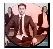 image En entreprise du professeur de yoga