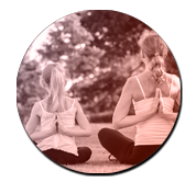 image En famille du professeur de yoga