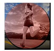 image Coureurs à pied du professeur de yoga